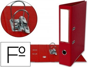 Archivador folio color rojo
