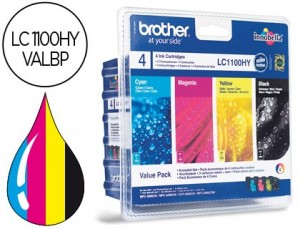 Cartucho para Brother LC1100 pack de 4 colores