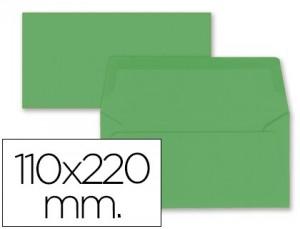 Sobre americano de color verde acebo 110x220mm