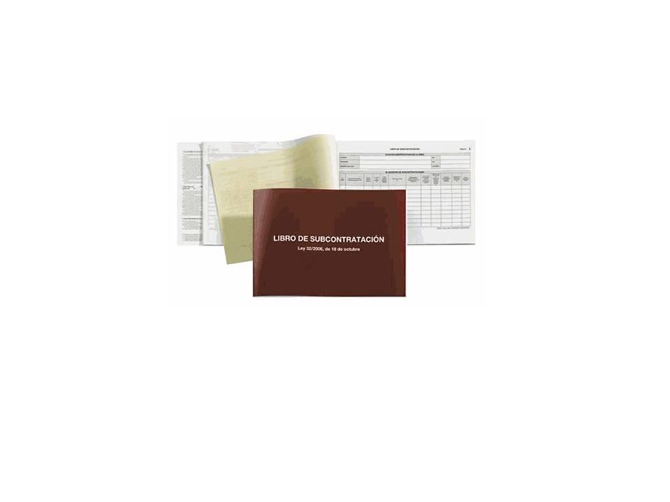 Libro de subcontratacion libros de contabilidad for Material de oficina online