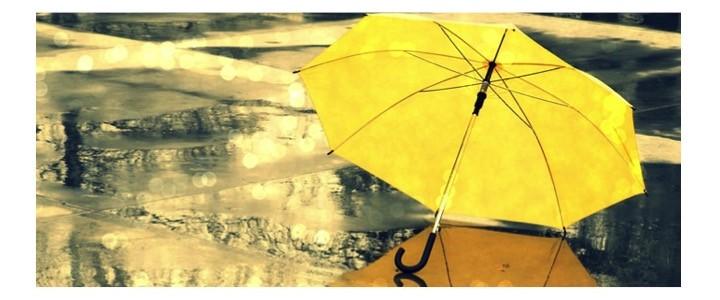 Paraguas y lluvia